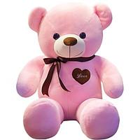 Love still bear plush toy bear teddy bear doll large doll panda pillow doll birthday gift female 1 meter pink ribbon bear