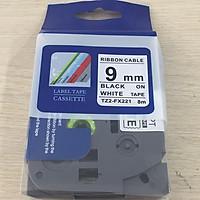 Nhãn TZ2-FX21 siêu dẻo - Chữ đen trên nền trắng 9mm - Hàng nhập khẩu