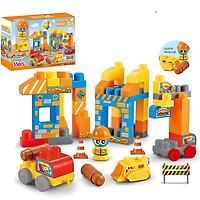 Đồ chơi xếp hình thành phố  KAVY có 55 chi tiết giúp bé sáng tạo phát triển các kĩ năng cơ bản, khối lớn