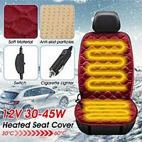 12V Heated Plush Cushion Car Seat Cover Heating Heater Warmer Pad Winter Universal
