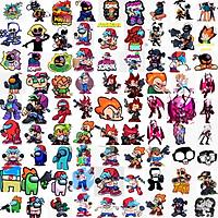 Ảnh Sticker Friday Night Funkin 30-60 cái ép lụa khác nhau