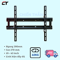 Khung Treo Tivi 19 - 43 Inch  áp tường Cảnh Phong cho tv LCD-LED-PLASMA  Cao Cấp - Hàng Chính Hãng