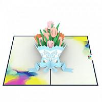 Thiệp 3D pop up Hoa Tulip
