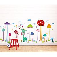 Decal dán tường khu vườn nấm cho bé DLX1455