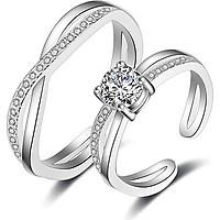 Cặp nhẫn bạc Cơn lốc tình yêu