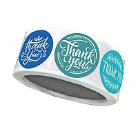 Thank You Stickers Roll of 500, 1 Inch | Thank You Sticker Roll Boutique Supplies for Business | Thank You Stickers for Gifts, Envelopes & Bags