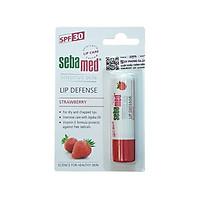 Son dưỡng chống khô nứt môi hương dâu màu đỏ mọng Sebamed pH5.5 Sensitive Skin Lip Defense Strawberry 4.8g