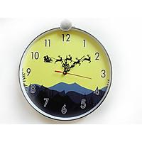 Đồng hồ trang trí treo tường độc đáo TUẦN LỘC VÀNG, kim trôi, không gây tiếng ồn, sản xuất thủ công