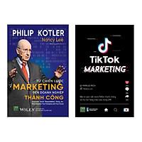 Combo 2 Cuốn Sách Kinh Tế: Tiktok Marketing + Từ Chiến Lược Marketing Đến Doanh Nghiệp Thành Công (Tuyệt Chiêu Làm Giàu Từ Internet và Chiến Thuật Marketing Hiệu Qủa)