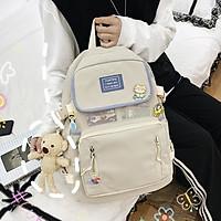 Balo Nữ Đi Học Laptop Chống Nước thời trang ulzzang cặp sách đi học Sinh viên học sinh tặng kèm gấu và sticker TN203