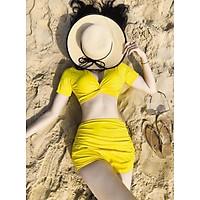 Bikini tay con vàng xoắn chéo ( kèm hình thật)