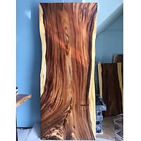 Mặt bàn gỗ me tây nguyên tấm KT 5x87x220cm tự nhiên