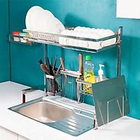 Kệ chén bát đa năng Foodcom bằng inox cao cấp không gỉ, giá để bát trên bồn rửa ráo nước cho nhà bếp sạch sẽ