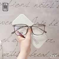 Gọng kính mắt nam nữ Lilyeyewear chất liệu nhựa dẻo mắt vuông to đi đường chống bụi 217