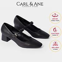 Giày cao gót Erosska thời trang mũi vuông phối dây quai mảnh kiểu dáng basic dễ phối đồ , thích hợp đi chơi, đi làm, cao 5cm CP003