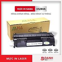 Hộp mực in SAHA 05A/80A (Có chíp) Dùng cho Canon, HP - Chính Hãng SAHA (BOX)