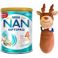 Sữa Bột Nestle NAN Optipro 4 (1.8kg) - Tặng Gối Ôm Tuần Lộc