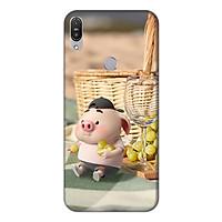 Ốp lưng điện thoại Asus Zenfone Max Pro M1 hình Heo Con Tham Ăn