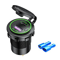 USB Car Charger Adapter Car Charger Quick Charge 3.0 with LED All-round Protection for Boat Marine