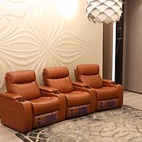 Bộ sofa phòng chiếu 3 ghế 4 tay vịn thông minh cao cấp nhập khẩu UY-111HM