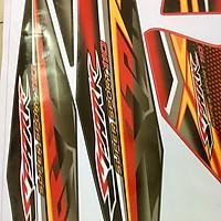 Tem mẫu Spark đỏ đen chỉ vàng dành cho xe Sirus cực hot  (bộ)