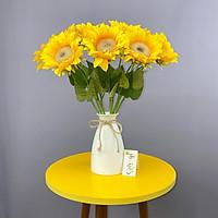 Combo 5 Bông Hoa Giả Hoa Hướng Dương Bông Lớn 45 Cm