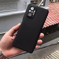 Ốp lưng dành cho Xiaomi Redmi Note 10 Pro chất liệu silicon dẻo màu đen chống sốc cao cấp