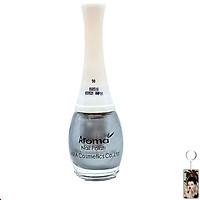 Sơn móng tay Aroma Nail Polish Hàn Quốc 12ml #90 kim loại tặng kèm móc khóa
