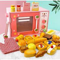 Đồ chơi gỗ Lò nướng hồng nhiều bánh