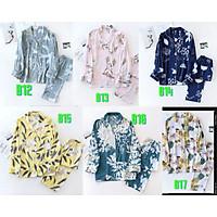 Đồ Bộ Nữ Dài Tay, Pijama Mặc Nhà Cho Nữ Bigsize Azuno BN2111 Chất Liệu Cotton Lụa Có Thể Mặc Mùa Hè