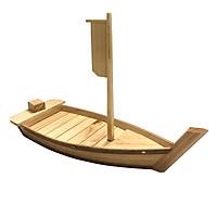 Khay thuyền gỗ trang trí Sushi & Sashimi Nhật Bản - G2 - Dài 55cm