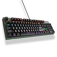 Bàn phím cơ Inphic V910 Bàn phím chơi game có dây chuyên nghiệp LED RGB Mix Backlit 104 phím - Hàng chính hãng