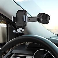 Giá đỡ điện thoại hút chân không gắn kính hoặc táp lô ô tô Baseus SUYL-TK01 Tank gravity car mount holder with suction base - Hàng chính hãng