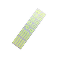 Universal Car Door Window Luminous Button Sticker Fluorescence Stickers