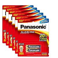 Bộ 6 vỉ pin AAA Kiềm Alkaline Panasonic LR03T/2B x6