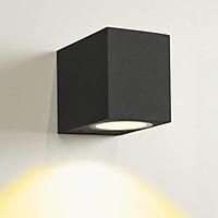 Đèn gắn tường ngoài trời đơn giản hiện đại hình hộp chữ nhật  hắt sáng 1 đầu.