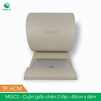 MGC2 - 45cm x 68m - Cuộn giấy chèn 2 lớp - Sóng B