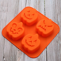 Khuôn silicon 4 hình Halloween bí ngô