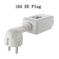 16A 220V 240V EU Plug GFCI Leakage Protection Safety RCD Socket Adaptor Home Circuit Breaker Cutout Power Trip Switch