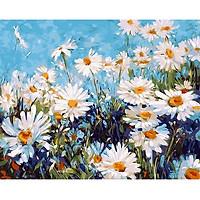 Tranh sơn dầu số hoá tự vẽ - Hoa cúc dại