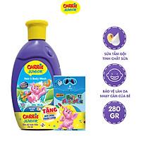 Sữa Tắm Gội cho bé Carrie Junior tinh chất Sữa 280g - Tặng Bút Màu