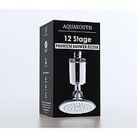 Thiết bị lọc nước vòi sen hàng nhập khẩu AquaYouth, loại bỏ Clo và mùi có trong nước, công nghệ lõi lọc 12 tầng