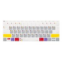 Phủ Phím JCPAL Verskin Macos Cho Macbook 12/New Macbook Pro 13/15 (Non-Touch) - Xám - Hàng Chính Hãng