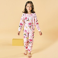 Bộ đồ dài tay mặc nhà cotton giấy cho bé gái U1013 - Unifriend Hàn Quốc, Cotton Organic