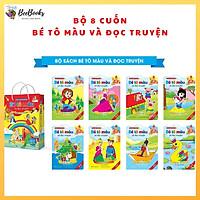 Bộ sách bé tập tô và đọc truyện- Truyện cổ tích thế giới song ngữ Việt Anh bộ 8 cuốn