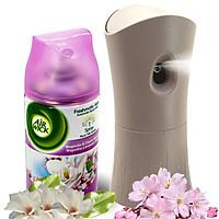 Bộ phun tinh dầu tự động Air Wick Magnolia & Cherry Blossom 250ml QT000326 - hoa mộc lan