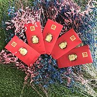 Bao lì xì may mắn - Combo 5 Bao Lì Xì Thần Tài màu vàng vip - TMT COLLECTION - MS354