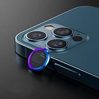 Bộ miếng dán kính cường lực Camera Diamondđính đá cho iPhone 12 Pro Max hiệu HOTCASE Kuzoom Lens Ring bảo vệ camera mang lại khả năng chụp hình sắc nét full HD (độ cứng 9H, chống trầy) - hàng nhập khẩu
