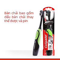Bàn chải điện dùng pin Colgate 360 độ than hoạt tính kháng vi khuẩn Charcoal (Xanh lá)