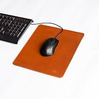 Bàn di chuột, miếng lót chuột bằng da bò thật kích thước 21.5 x 25 cm - Mouse Pads Leather LAPELLE